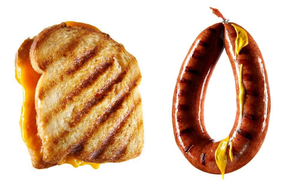Lucas Zarebinski photography - Grilled Cheese / Sausage
